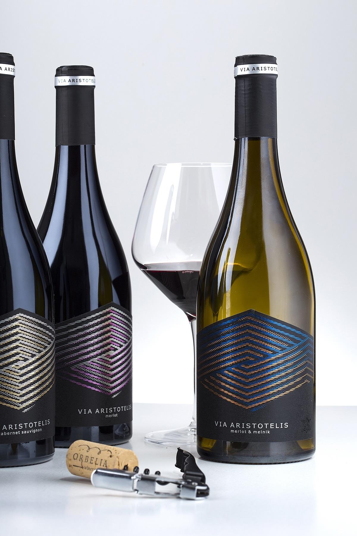Via Aristotelis wine label