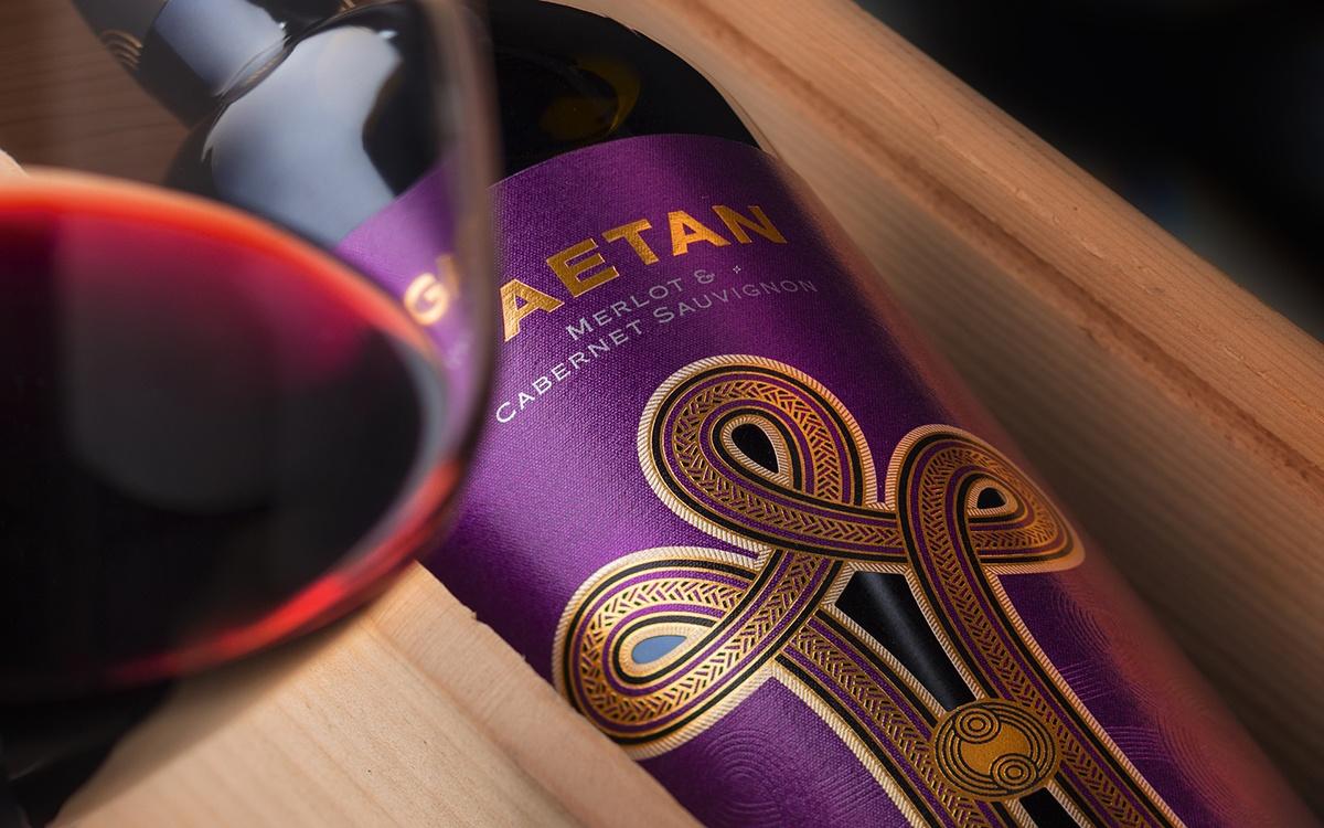 Gaetan wine label