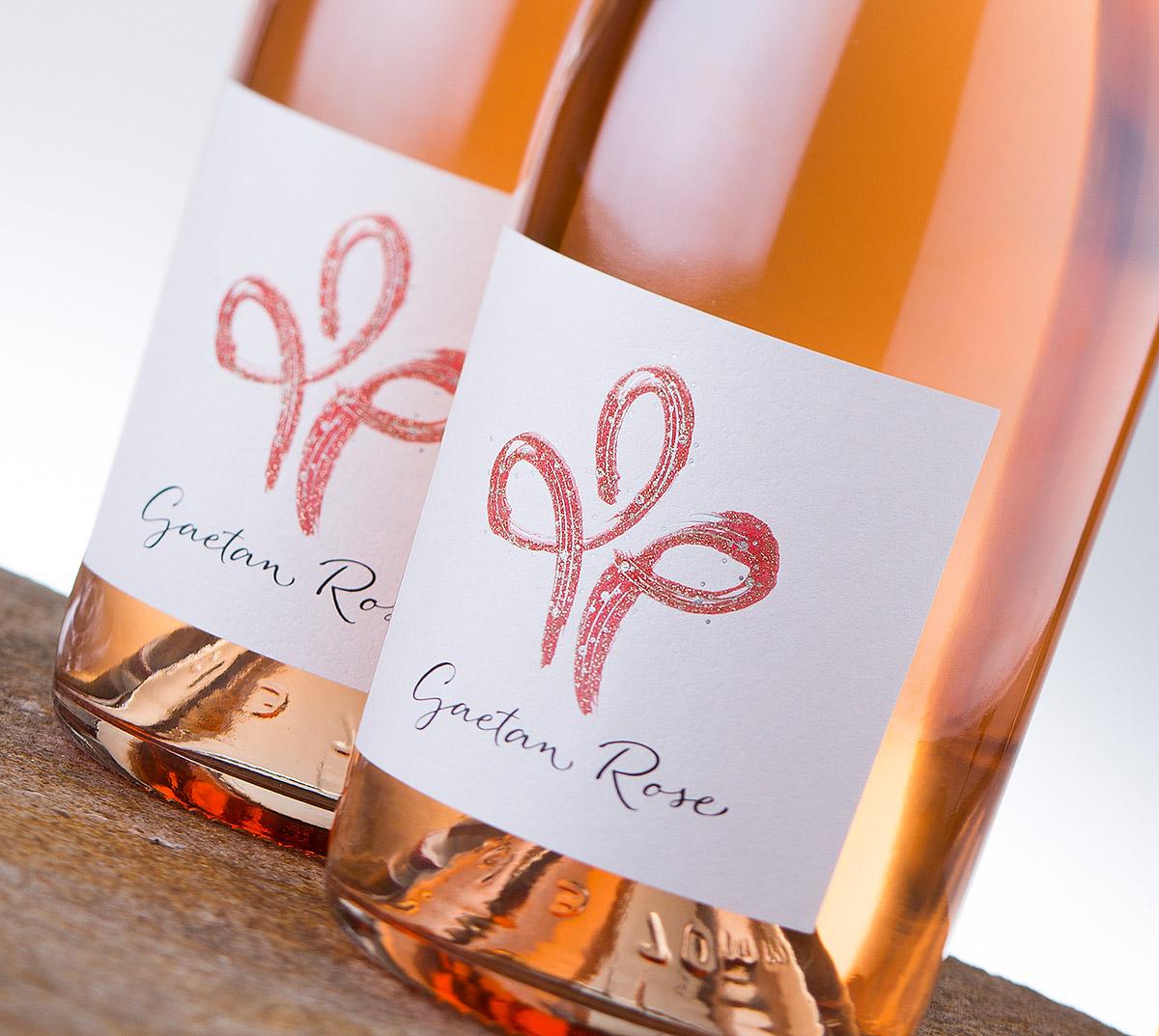 Gaetan Rose wine label