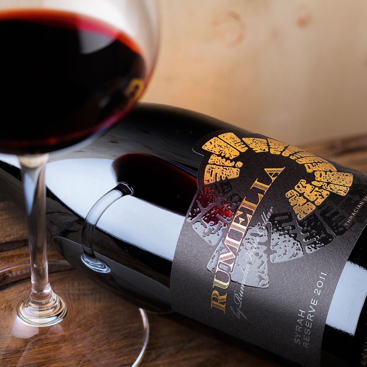 Syrah wine label