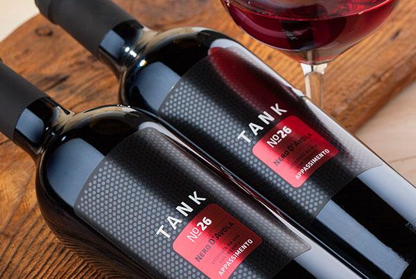 Tank 26 wine label design