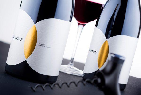 contemporary wine label design