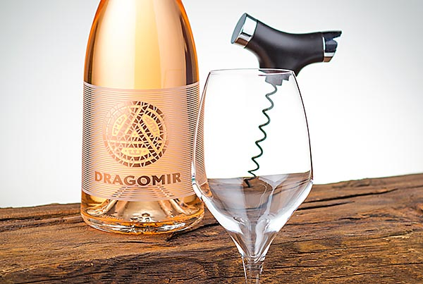 Dragomir Rose wine label
