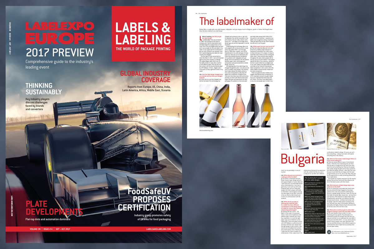 The Labelmaker of Bulgaria – Interview for Labels & Labeling Magazine