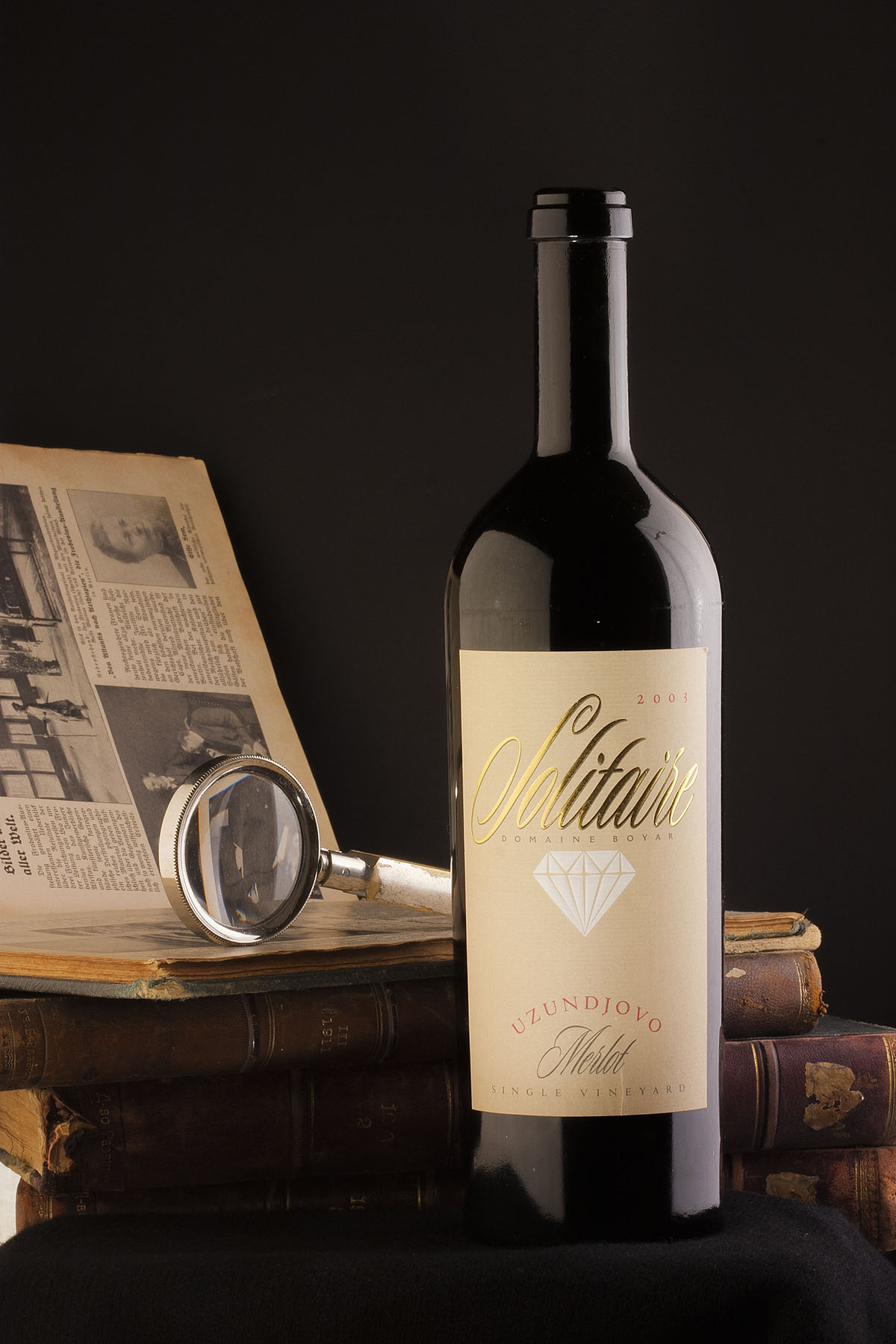 Solitaire wine label