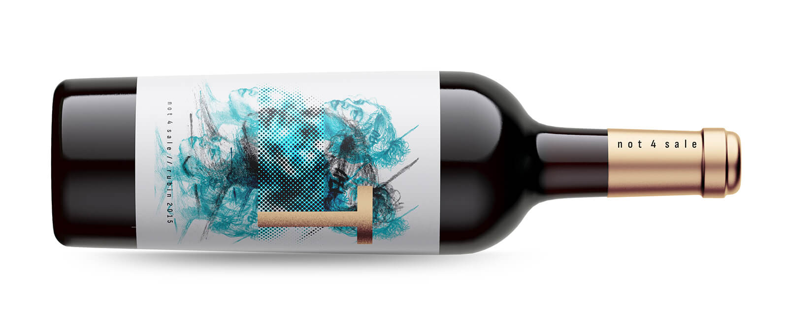 Not4Sale by T modern wine packaging design