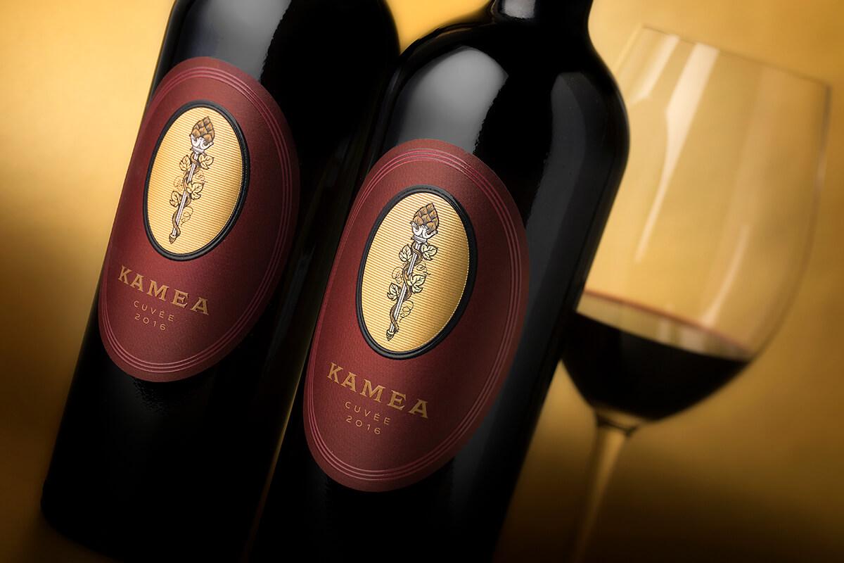 kamea winery wine packaging design