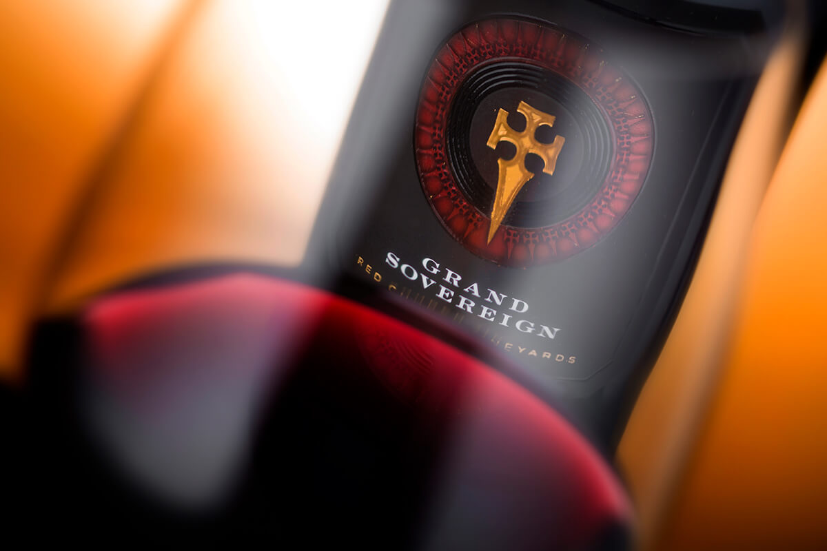 grand sovereign wine label