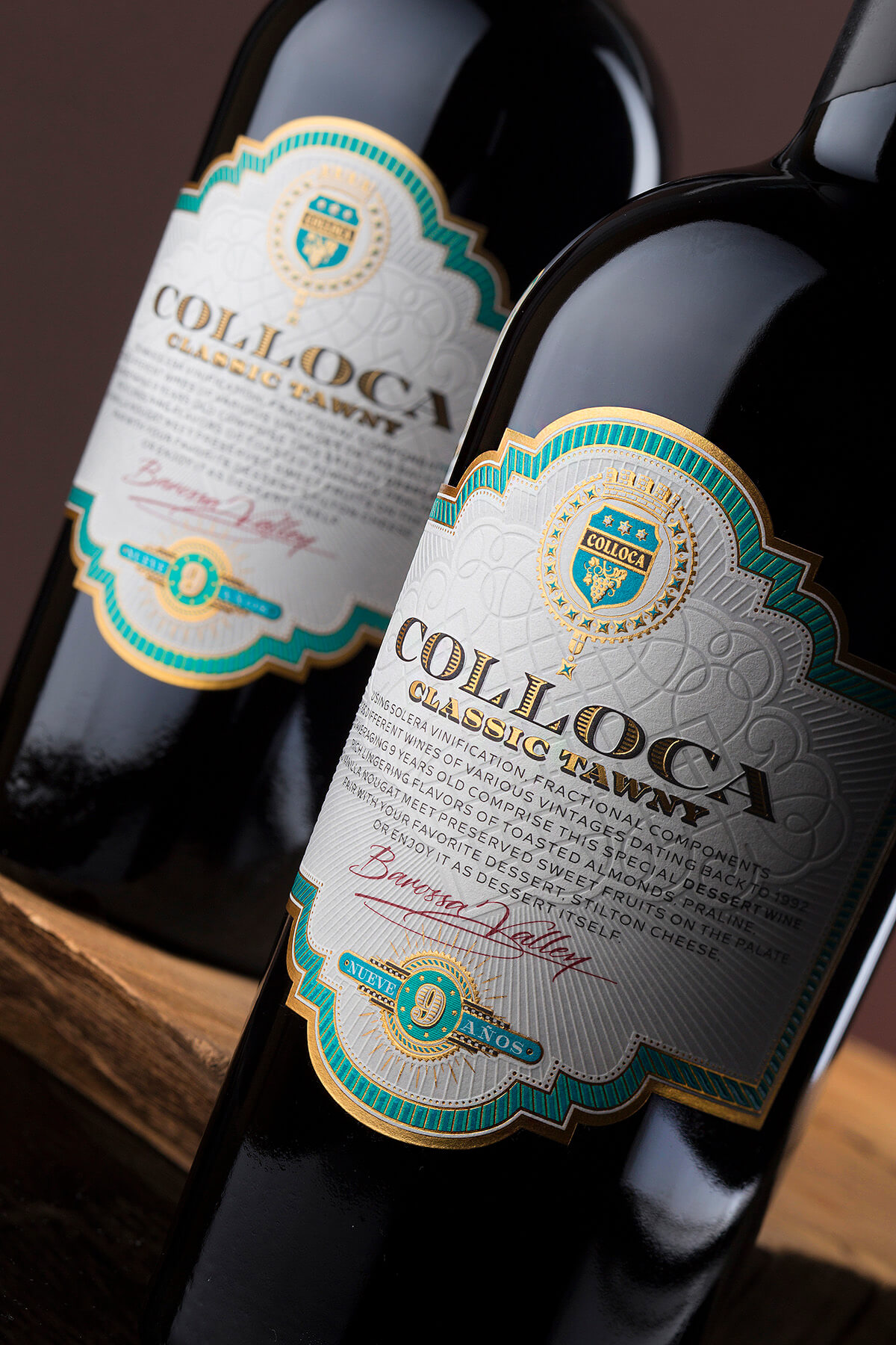 vintage label design colloca