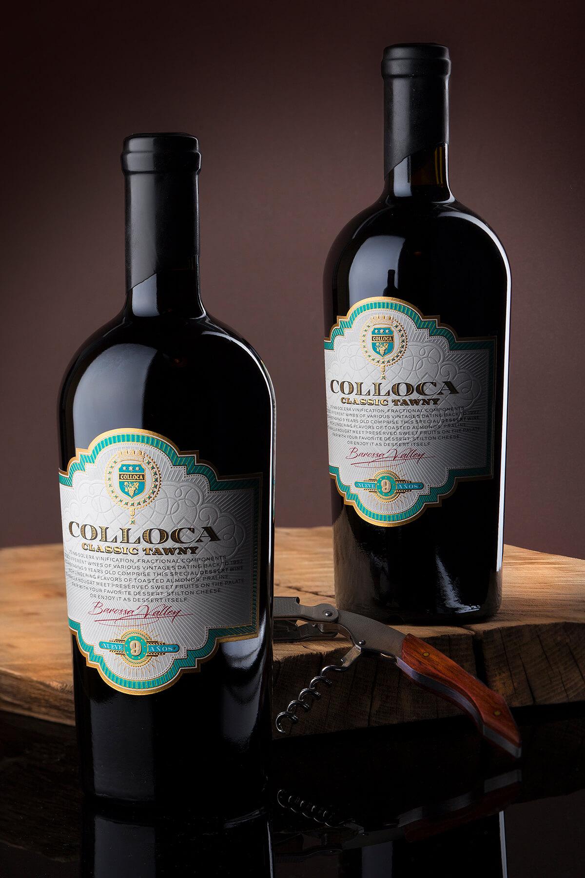 vintage label design for colloca winery