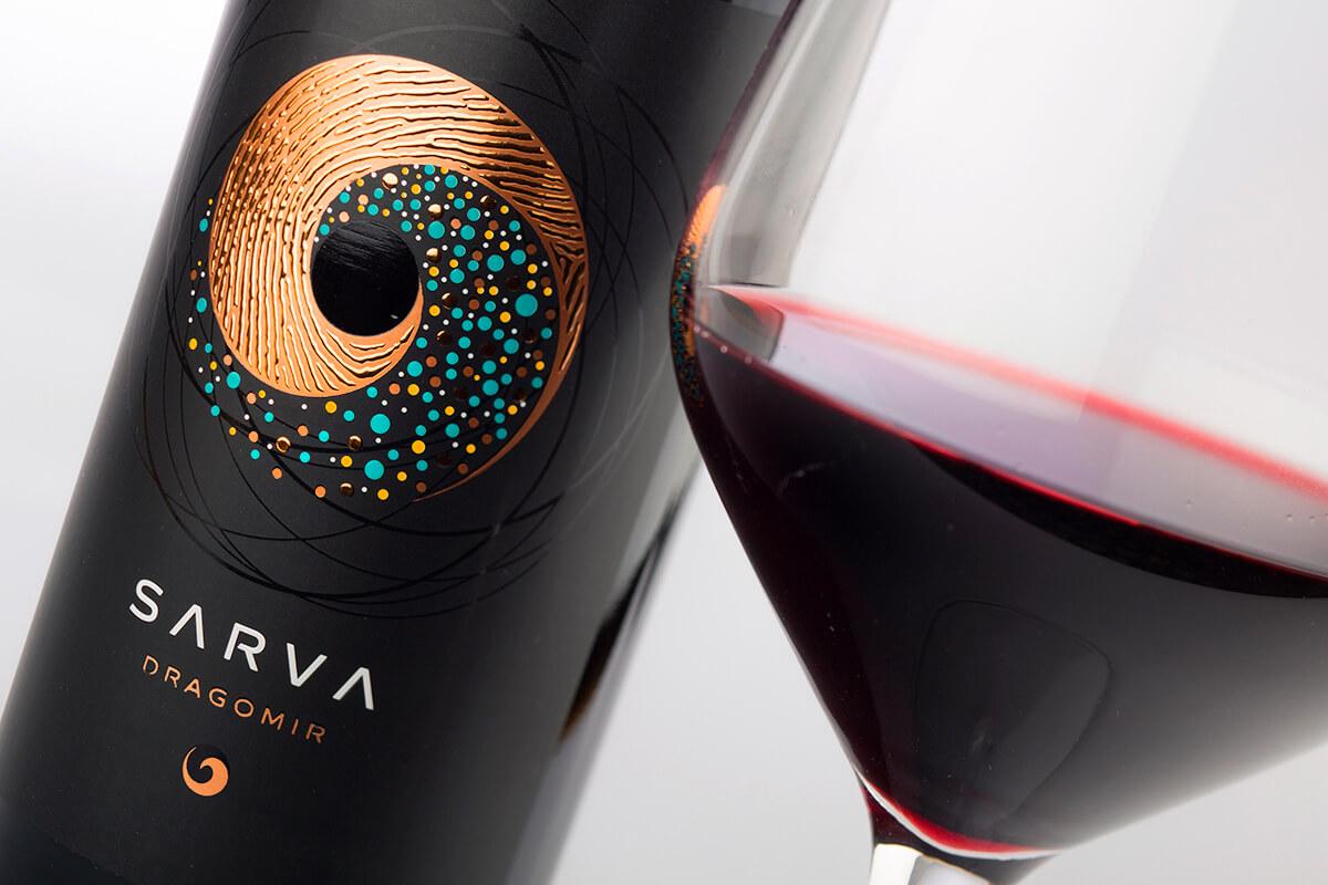 sarva wine label design