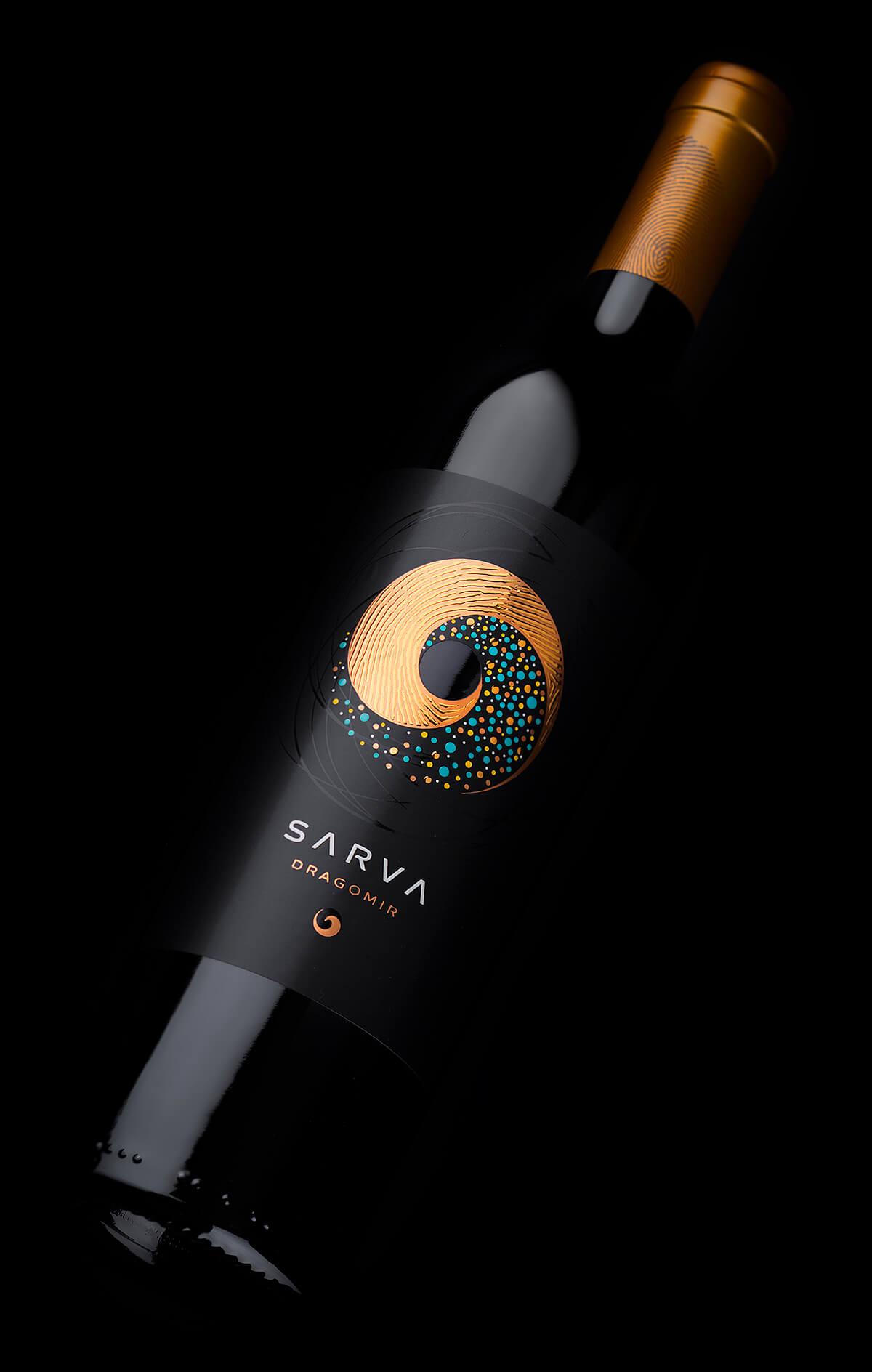 intricate wine label design