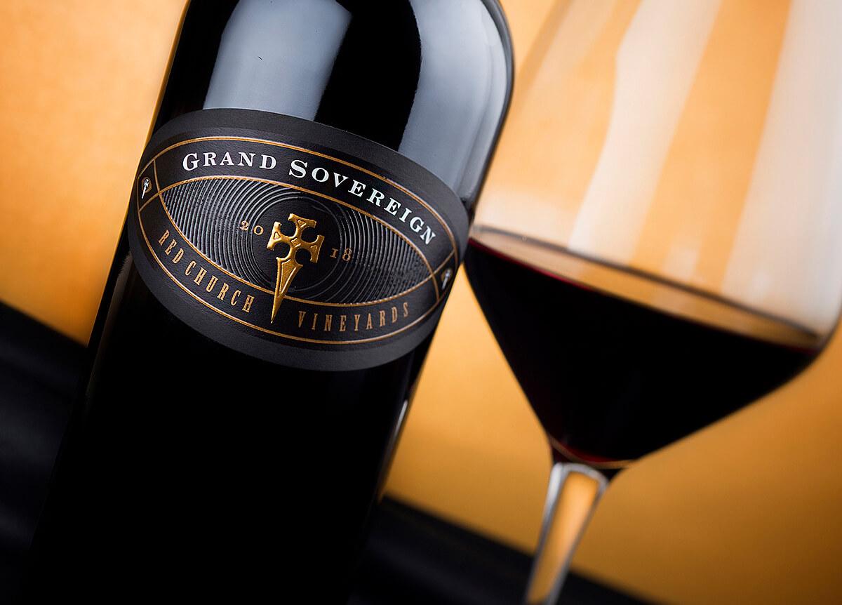 Grand Sovereign Wine Label Design