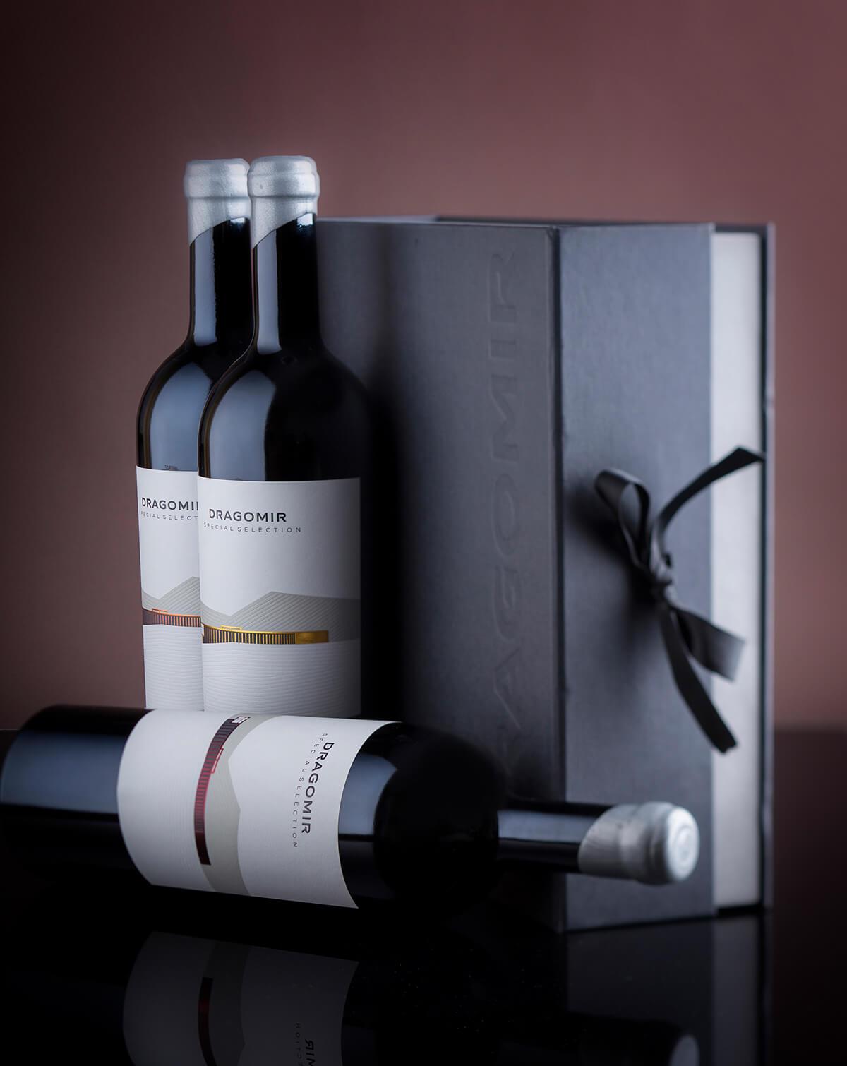 dragomir wine label design