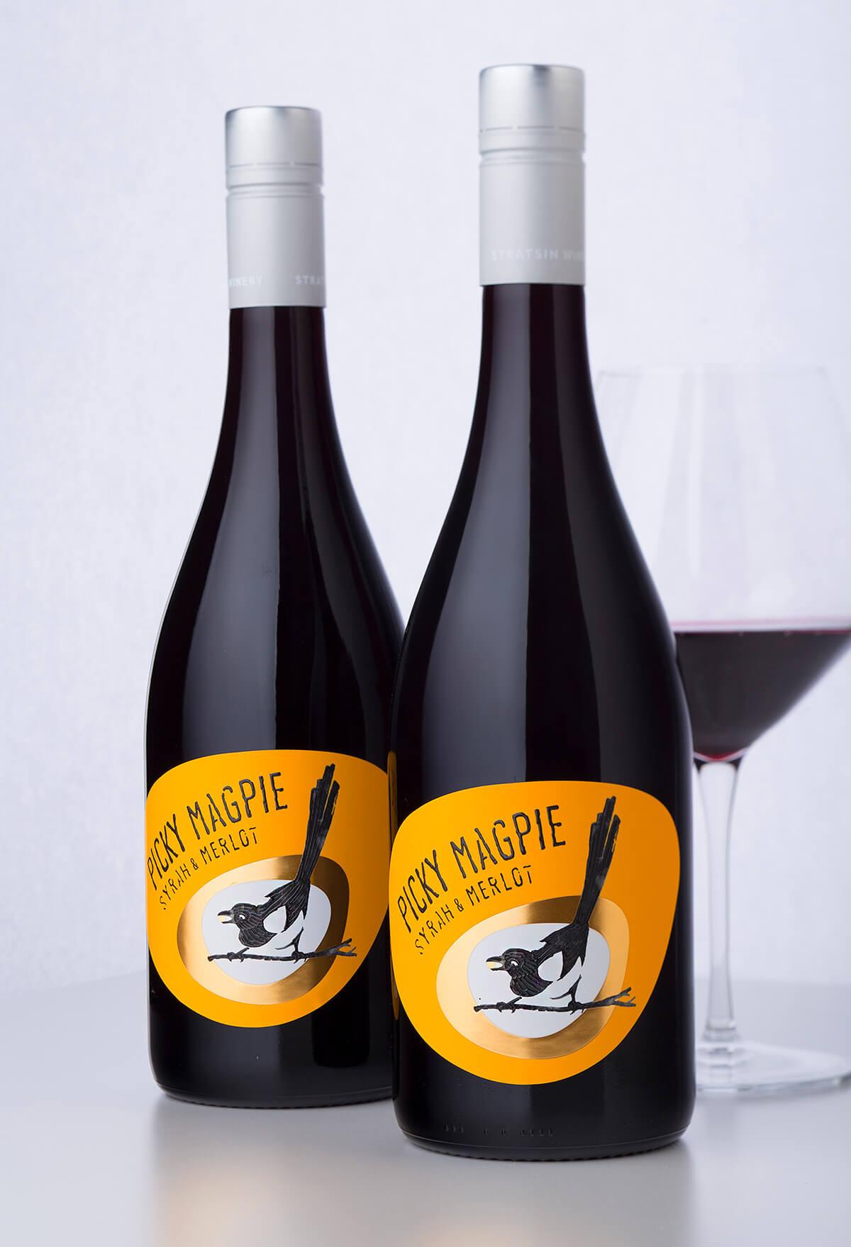 picky magpie wine label
