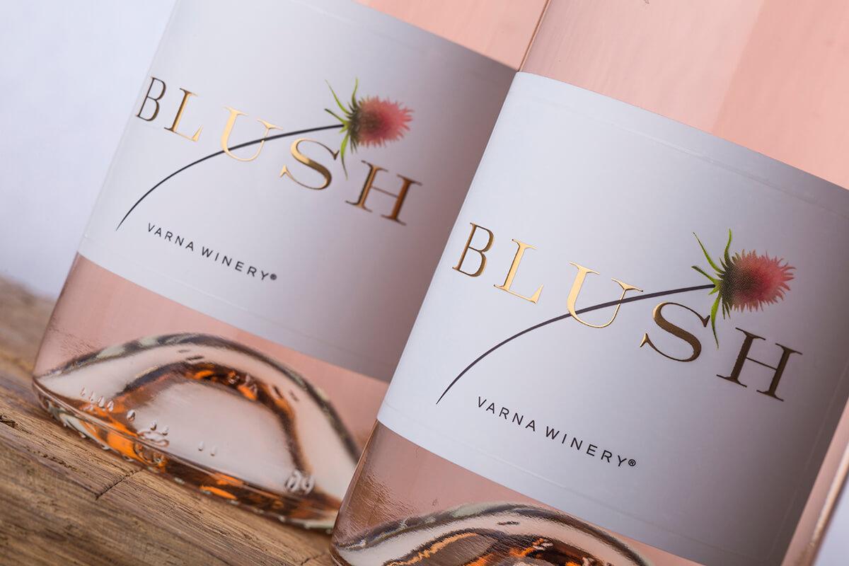 blush wine label design