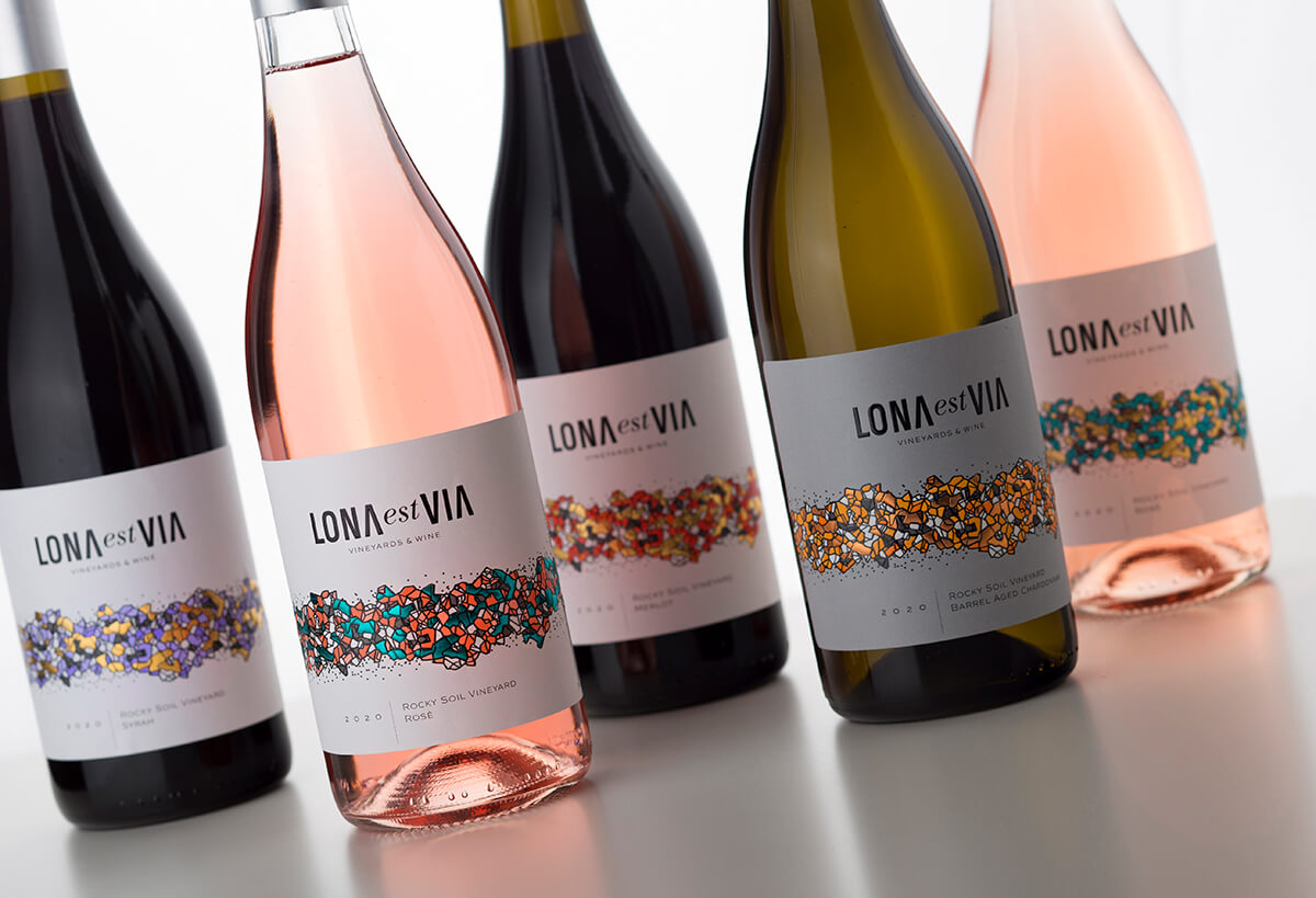LONA est VIA Wine Labels Design