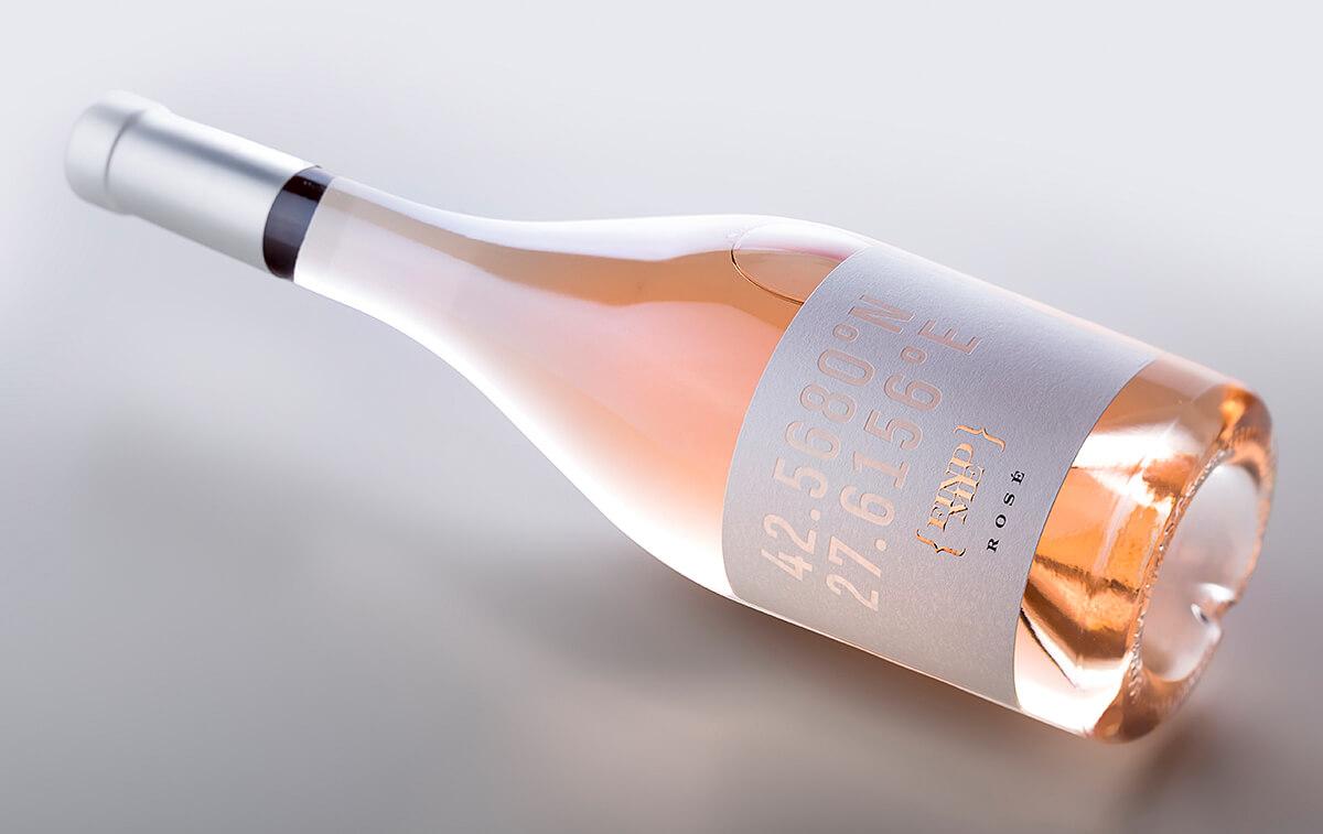 rose label design
