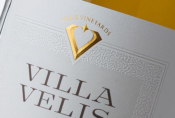 Villa Vellis Wine Label Design